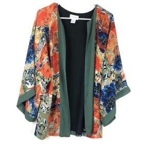 Soft Surroundings Sheer Wide Sleeve Kimono Top  Sm